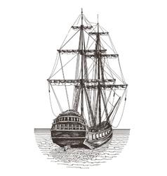 Ship logo design template frigate or vector