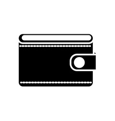 Silhouette wallet to save money vector