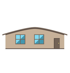 Single-storey house isolated vector