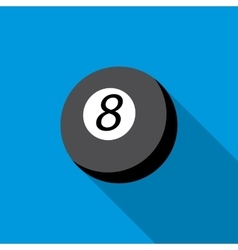 Snooker 8 pool icon flat style vector