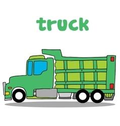 Truck cartoon design art vector image vector image