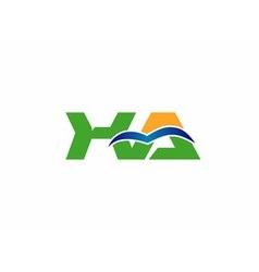 Xa initial company group logo vector