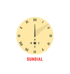 yellow simple sundial icon vector image