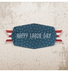Happy labor day festive tag vector