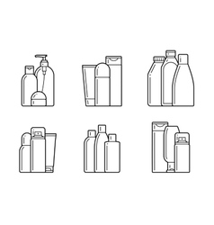 Cosmetic flat icons vector