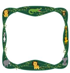 frame jungle animals cartoon vector image