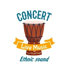 Live music concert isolated label emblem vector