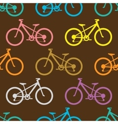 Retro bike seamless pattern vector