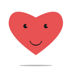 Smiling heart character vector