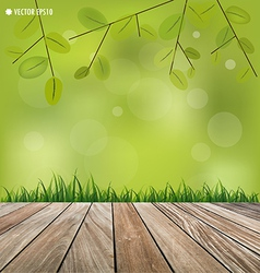 Natural background fresh spring green grass vector