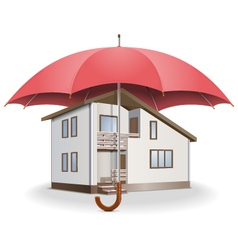 Umbrella and house vector