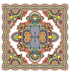 Traditional ornamental floral paisley bandana vector