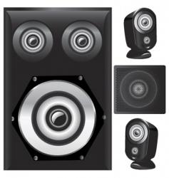 set of speaker vector image