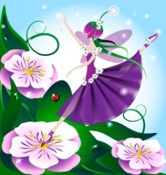 Lilac fairy vector
