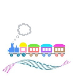 Cute train vector