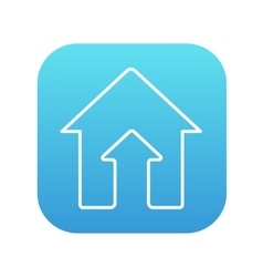 Growth of real estate market line icon vector