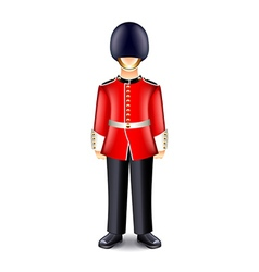 London guard isolated on white vector