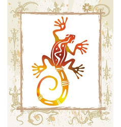 color lizard in a frame vector image