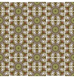 Ethnic floral seamless pattern vector