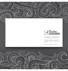 Banner with doddle pattern vector