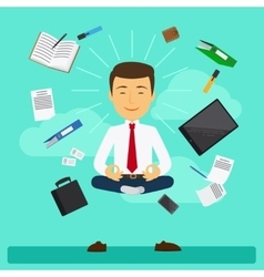 Business yoga vector