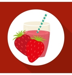 Juice design glass icon drink concept vector