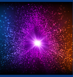 Abstract triangle violet space vector