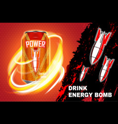 bomb energy drink ad vector image