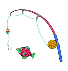 cartoon fishing vector image