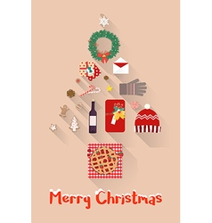 Christmas new year holiday items set vector