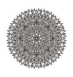 Circular lace pattern vector