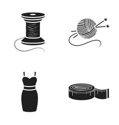 Coil of thread centimeter dress ball of thread vector