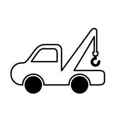 crane vehicle isolated icon vector image