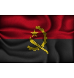 crumpled flag of Angola vector image