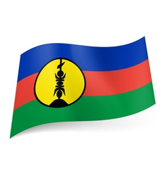 Flag of New Caledonia vector image vector image