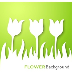 Flower applique background vector