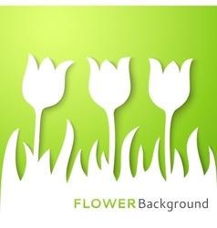 Flower applique background vector image vector image