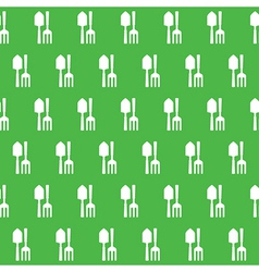 Gardening tools pattern vector