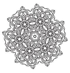 Lace ornament mandala vector