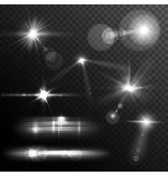 Lens flares white vector