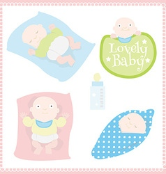 Lovely baby vector image vector image