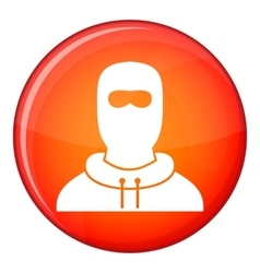 Man in balaclava icon flat style vector