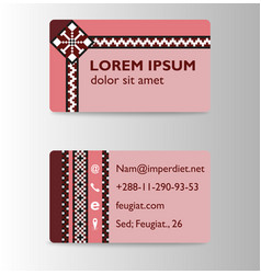 modern creative and trending business card design vector image