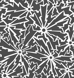 monochrome cracks seamless pattern vector image