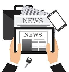 Newspaper concept design vector