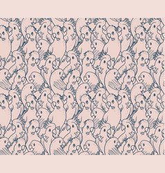 Parrots and cockatoo pattern vector