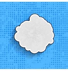 Pop art speech bubble on blue background vector