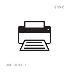 Simple printer icon vector image