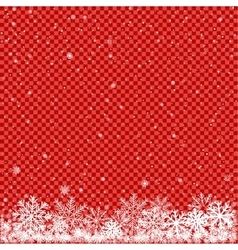 snow on red transparent background vector image vector image