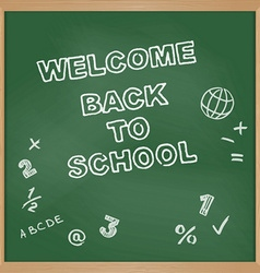 Welcome back to school school board vector